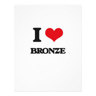 I Love Bronze 21.5 Cm X 28 Cm Flyer