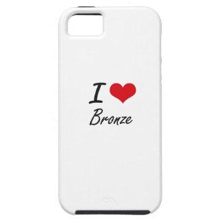 I Love Bronze Artistic Design Case For The iPhone 5