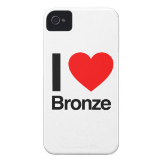 i love bronze Case-Mate iPhone 4 cases
