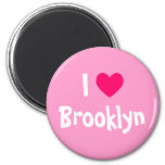 I Love Brooklyn 6 Cm Round Magnet