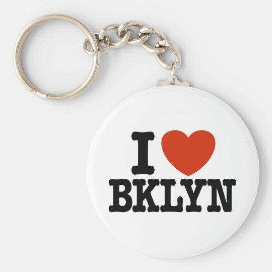 I Love Brooklyn Basic Round Button Key Ring