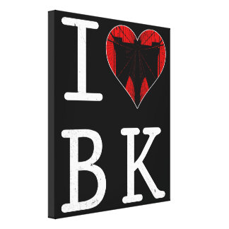 I Love Brooklyn, BK New York Box Canvas Canvas Print