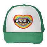 I love Brooklyn: rainbow heart