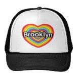 I love Brooklyn: rainbow heart Cap
