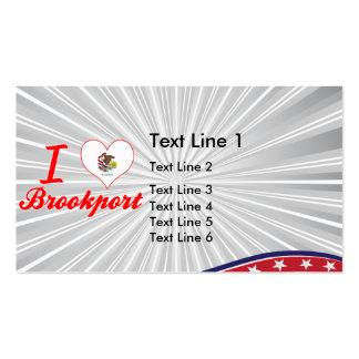 I Love Brookport, Illinois Business Card Template