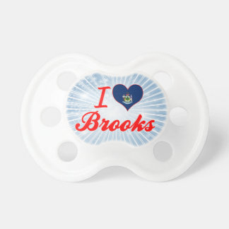 I Love Brooks, Maine Baby Pacifiers