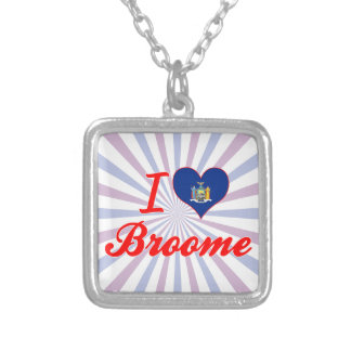I Love Broome, New York Necklace