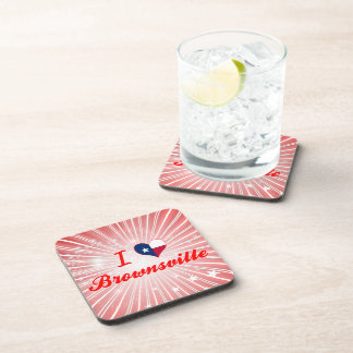I Love Brownsville Texas Drink Coasters