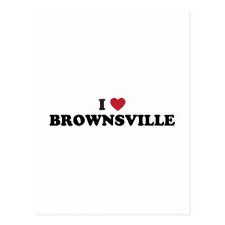 I Love Brownsville Texas Postcard