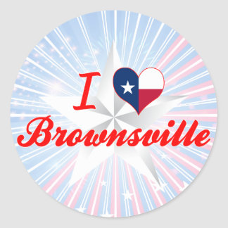 I Love Brownsville, Texas Stickers