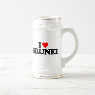 I LOVE BRUNEI BEER STEINS