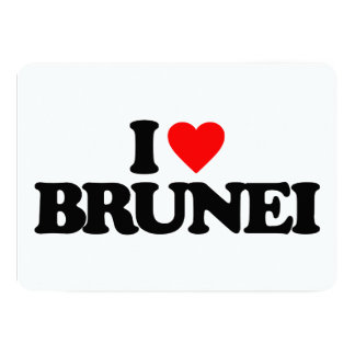 I LOVE BRUNEI 13 CM X 18 CM INVITATION CARD