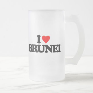 I LOVE BRUNEI FROSTED GLASS MUG