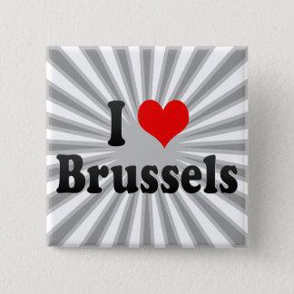 I Love Brussels, Belgium 15 Cm Square Badge