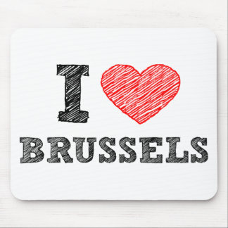 I Love Brussels Mouse Mat