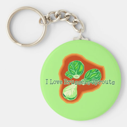 I Love Brussels Sprouts Basic Round Button Key Ring