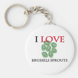 I Love Brussels Sprouts Key Chain