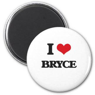 I Love Bryce 2 Inch Round Magnet