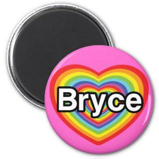 I love Bryce rainbow heart Fridge Magnet