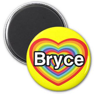 I love Bryce rainbow heart Fridge Magnets