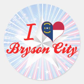 I Love Bryson City, North Carolina Round Sticker