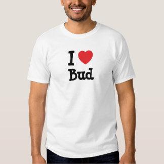 I love Bud heart custom personalized T Shirts
