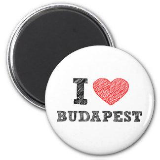 I Love Budapest 6 Cm Round Magnet