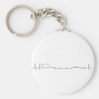 I love Budapest (ecg style) souvenir Basic Round Button Key Ring