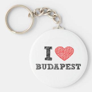 I Love Budapest Key Ring