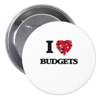 I Love Budgets 7.5 Cm Round Badge