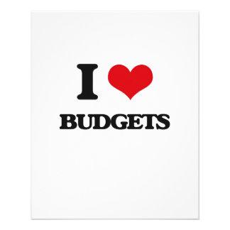 I Love Budgets Flyer