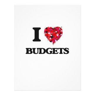 I Love Budgets 21.5 Cm X 28 Cm Flyer