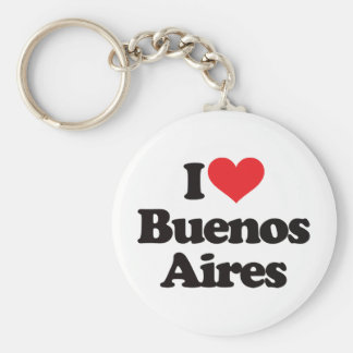 I Love Buenos Aires Basic Round Button Key Ring