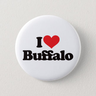 I Love Buffalo 6 Cm Round Badge