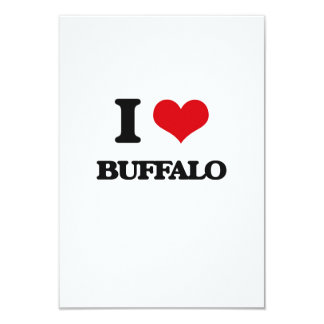 I love Buffalo 9 Cm X 13 Cm Invitation Card