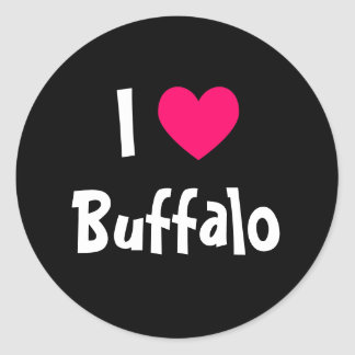 I Love Buffalo Classic Round Sticker