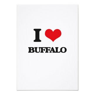 I love Buffalo 13 Cm X 18 Cm Invitation Card