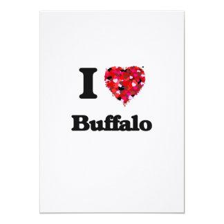 I love Buffalo New York 13 Cm X 18 Cm Invitation Card
