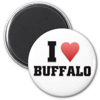 I love Buffalo, New York 6 Cm Round Magnet