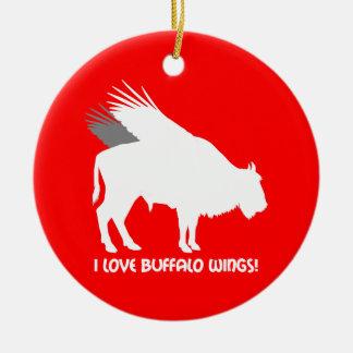 I love buffalo wings christmas ornament