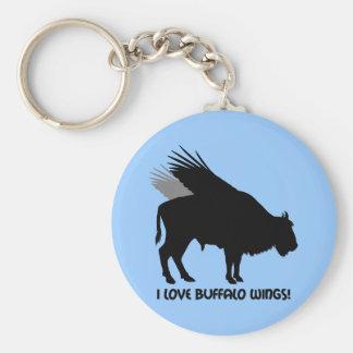 I love buffalo wings key ring