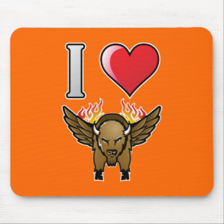 I Love Buffalo Wings Mouse Mat