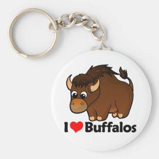 I Love Buffalos Key Ring