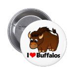I Love Buffalos Pinback Button