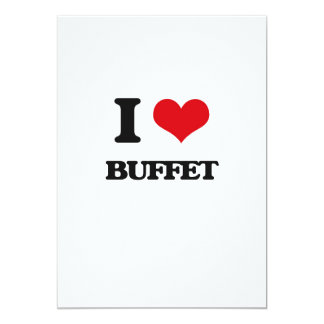 I Love Buffet 13 Cm X 18 Cm Invitation Card
