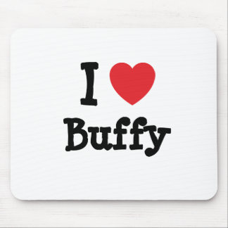 I love Buffy heart T-Shirt Mouse Mat