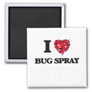 I Love Bug Spray Square Magnet