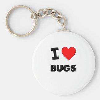 I Love Bugs Keychain