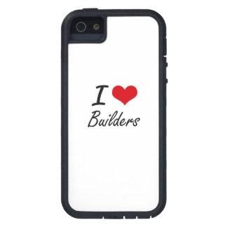 I Love Builders Artistic Design Tough Xtreme iPhone 5 Case