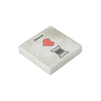I Love Building A House Stone Magnet